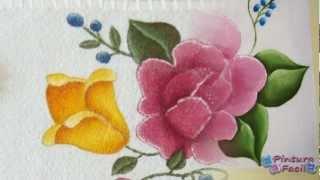 getlinkyoutube.com-Como Pintar en Tela Flores *Textile Paint* Manteles Individuales - Pintura Facil Para Ti