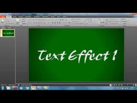 professional text effects with power point part 1