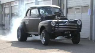 getlinkyoutube.com-Street legal '48 Ford Coupe Gasser - Drag & Burn-out. Zandvoort