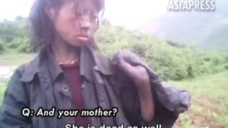 getlinkyoutube.com-North Korea :  Starving 23 year-old Homeless Woman (Rimjin-gang/ASIAPRESS)