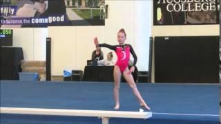 getlinkyoutube.com-Ariana Douvier at Twisted Moose Gymnastics Meet  Feb 2016