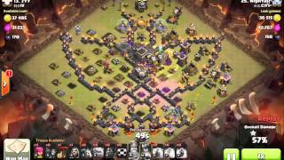getlinkyoutube.com-TH9 3-star: GoLaLoon, butterfly base, max defense