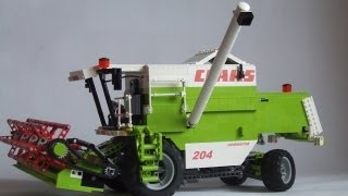 getlinkyoutube.com-Lego motorized combine harvester Claas Dominator 204 Mega.