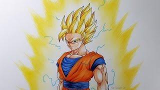 getlinkyoutube.com-Drawing Goku Super Saiyan 2