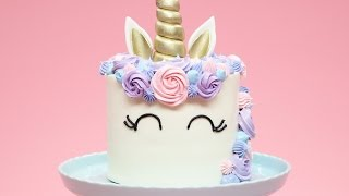 HOW TO MAKE A UNICORN CAKE - NERDY NUMMIES
