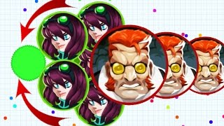 Agar.io Epic Pop Split Failed Solo vs Team Agario Mobile Gameplay!
