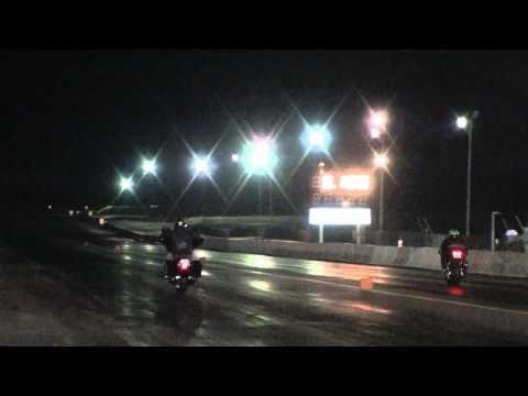 bad ass harley bagger pulling a wheelie at the track!!  HD