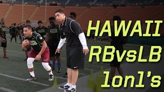 getlinkyoutube.com-Hawaii RB vs LB 1 on 1's | 2015 Nike Football Combine