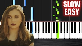 getlinkyoutube.com-The Chainsmokers - Don't Let Me Down ft. Daya - SLOW EASY Piano Tutorial by PlutaX