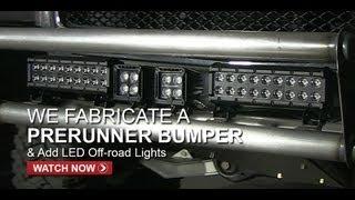 getlinkyoutube.com-Silverado Prerunner Bumper & LED Off-road Lights - FullDroopTV (Season 1, Episode 5)