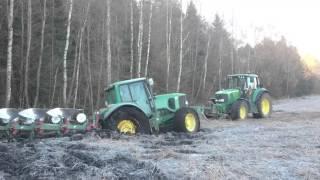 Tractor stuck in mud Again