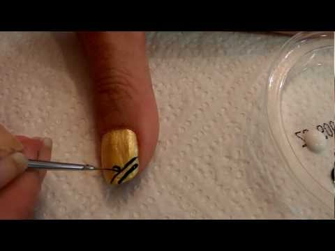 Tutorial uñas decoradas (Nail art) Nº44 Cinco tutoriales fáciles en uno.MP4