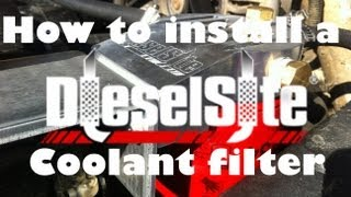 getlinkyoutube.com-How to: Install Diesel Site Coolant Filter 7.3L