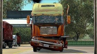 getlinkyoutube.com-Rig'n Roll - Freightliner Argosy Bad Driving from Oxnard to Lebec