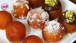 getlinkyoutube.com-حلويات هندية: حلويات سهلة وسريعة بدون فرن - طريقة عمل جولاب جامون