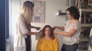getlinkyoutube.com-השוואה בין דפני מברשת מחליקה שיער המקורית לבין החיקוי! התוצאות ברורות | Look