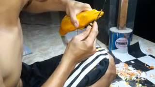 getlinkyoutube.com-Nyoman Putra (Pumpkin carving Arwana Fish)