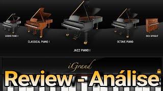 iGrand Piano on Ipad (IOS) Teste - Review - The Best Piano (Português)