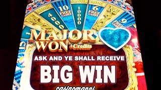 getlinkyoutube.com-ASK AND YE SHALL RECEIVE! - BIG WIN! - MAJOR WHEEL BONUS plus CREDITS! - Slot Machine Bonus
