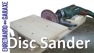 getlinkyoutube.com-Make a disc sander using a drill support and a sanding disc.