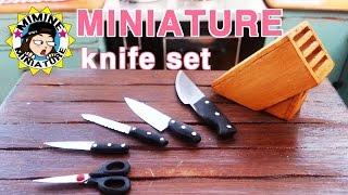 미니어쳐 식칼세트 만들기(칼꽂이도 ㅇㅇ)miniature - Knife set
