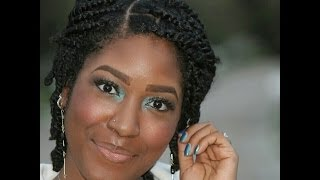 getlinkyoutube.com-Natural Hair: (Fall Protective Styles) Wearable 2 Strand Twists