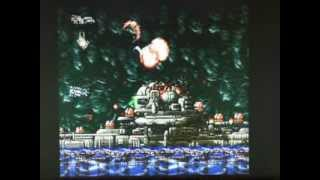 """Last Resort"" (NEO GEO) emulated on the Atari Falcon 030 (16 MHz, 14 MB RAM)."