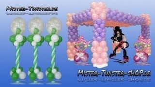 getlinkyoutube.com-Balloon column, Balloons in Balloon, Luftballon Säule, Luftballons im Luftballon