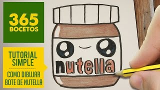 getlinkyoutube.com-COMO DIBUJAR UN BOTE DE NUTELLA KAWAII PASO A PASO - Dibujos kawaii faciles - How to draw Nutella