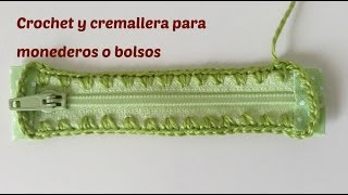 getlinkyoutube.com-Crochet sobre cremallera, para monedero a crochet