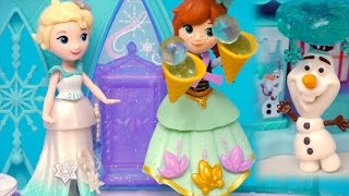Frozen Elsa & Anna Little Kingdom Toys - Elsa Messes Up Olaf's Snow Cone Store - Stories With Dolls