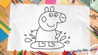 getlinkyoutube.com-How to draw Peppa Pig - Easy step-by-step drawing lessons for kids