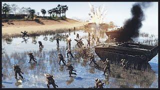 getlinkyoutube.com-US Marines and Army Beach Assault - Second Battle of Guam 1944 | Men of War Assault Squad 2 Gameplay