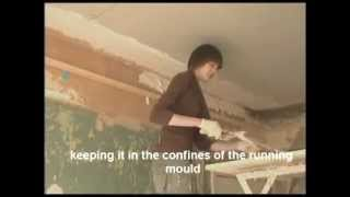 getlinkyoutube.com-HOW TO RUN A SOLID CORNICE USING LIME PUTTY AND CLASS A PLASTER