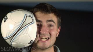 getlinkyoutube.com-Football to the Face in Slow motion - The Slow Mo Guys