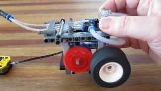 getlinkyoutube.com-Lego Pneumatic Engine - Switchless 1 cylinder 'switchwheels'