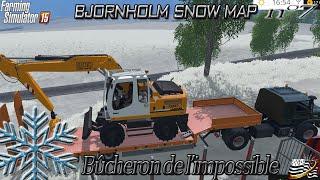 getlinkyoutube.com-Farming simulator 15 - Bûcheron de l'impossible - EP7 - MAP NEIGE