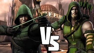 getlinkyoutube.com-injustice Versus The Arrow VS Green Arrow