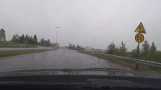 getlinkyoutube.com-Driving in Finland, from Rovaniemi to Posio. June 2016