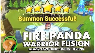 getlinkyoutube.com-SUMMONERS WAR : Fire Panda Warrior Fusion! (testing, playtime, runes and more)
