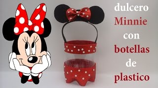 getlinkyoutube.com-Dulcero de Minnie Mouse con foamy y botellas de plástico