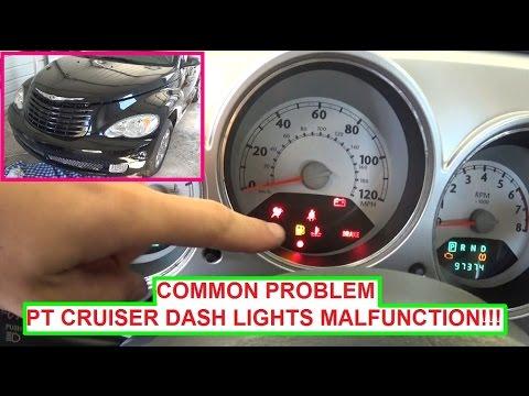 Chrysler PT Cruiser Dash Lights Instrument Cluster lights ON & OFF Blinking COMMON PROBLEM!