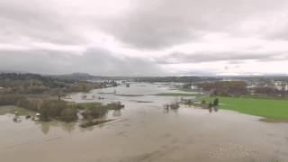 Watch: Aerial tour of flooding in Skagit Valley