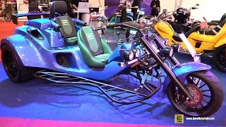 2015 Rewaco RF1 Black Line Trike - Walkaround - 2015 Salon de la Moto Paris