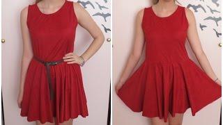 getlinkyoutube.com-Como fazer vestido godê simples - DIY
