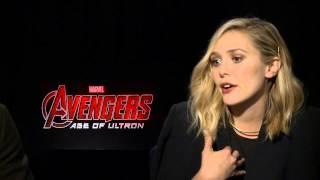 getlinkyoutube.com-Marvel's Avengers: Age of Ultron: Aaron Taylor-Johnson & Elizabeth Olsen Official Interview