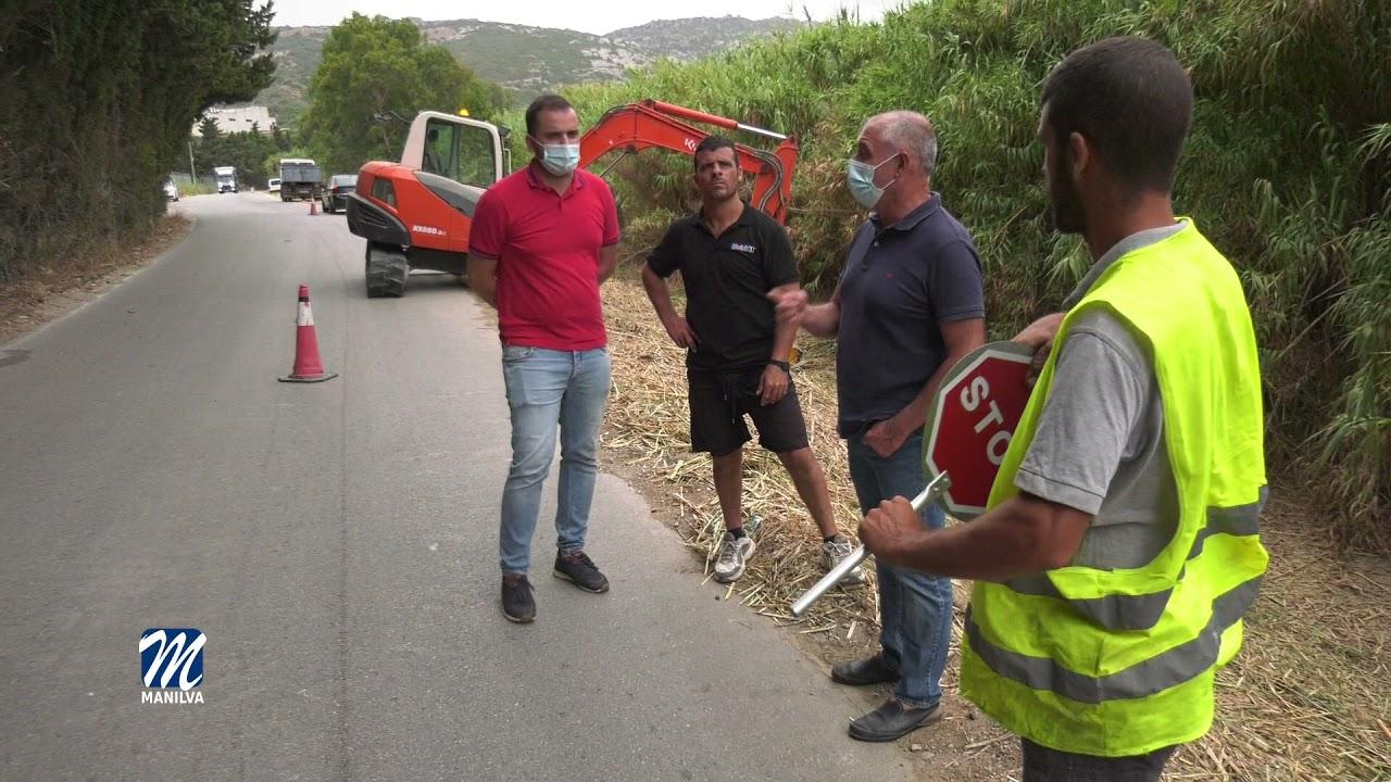 Desbroce intensivo en la carretera del Río Manilva