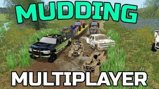 FARMING SIMULATOR 2017 | MUDDING WITH TOYS | MULTIPLAYER | CAN AM | RZR