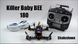 getlinkyoutube.com-HPIGUY   Killer Baby BEE 180 Mini Quad Part 2 - test flight