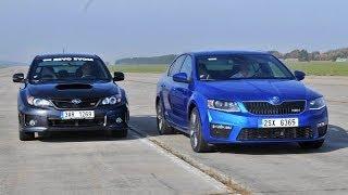 getlinkyoutube.com-Skoda Octavia RS TSI vs. Subaru WRX STI 2013 - drag race